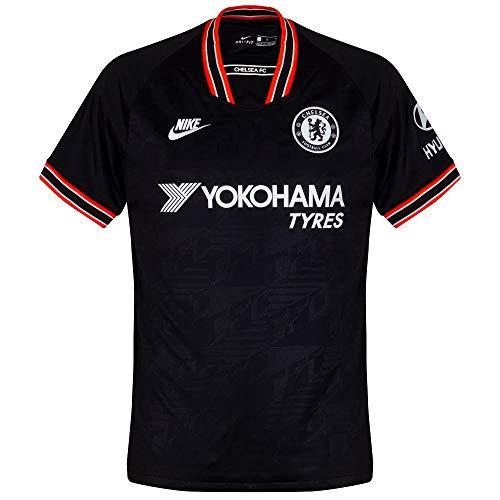 Nike Herren CFC M NK BRT STAD JSY SS 3R Football T-Shirt, Black/White, L