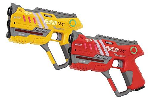 JAMARA 410085 - Impulse Laser Gun - Pistol Set - Laser Tag mit 3 Battlemodi (Team: bis zu 4 Spieler je Team,...