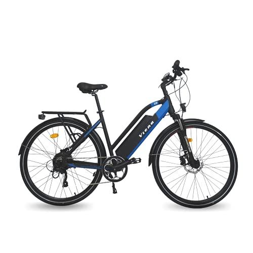 URBANBIKER VIENA Trekking E-Bike, 350W Motor, 840Wh Akku, E-Trekkingbike für Damen und Herren, 28 Zoll Blau