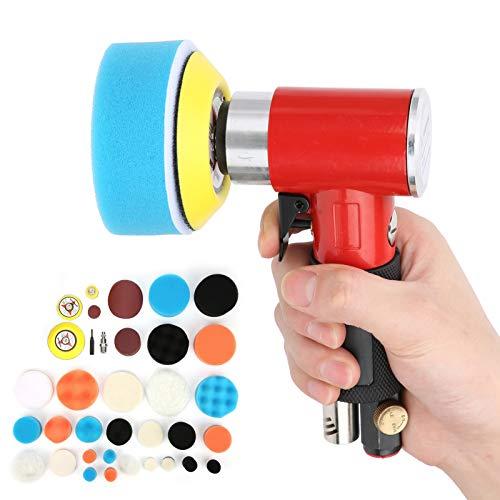 Exzentrische DIY Luftpoliermaschine Poliermaschine AT-1500R48 Rot zum Autowachsen(American gas nozzle)