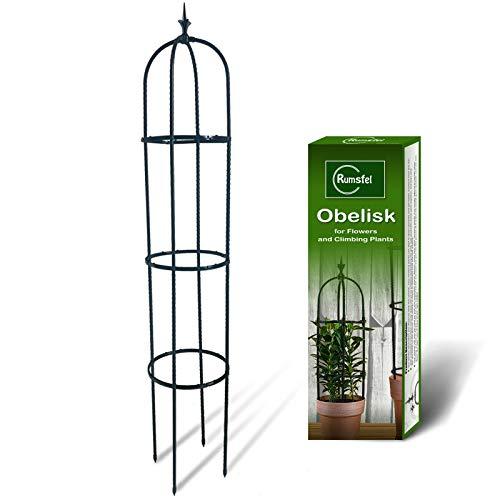 Rankhilfe Obelisk, Rankobelisk, Rankturm Gartenpflanze Stützstangen Käfig für Kletterpflanzen Ranksäule...