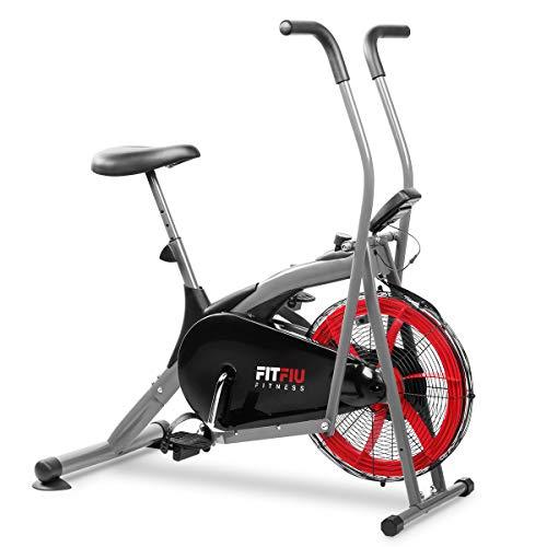 Fitfiu BELI-150 elliptisches Fahrrad, Luftwiderstand, mit LCD-Display, Air Bike, Erwachsene, Unisex, Schwarz,...