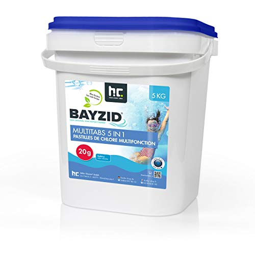 Höfer Chemie 5 kg Chlor Multitabs 20g 5in1 für Pool & Spa BAYZID Poolpflege - HOCHWIRKSAM