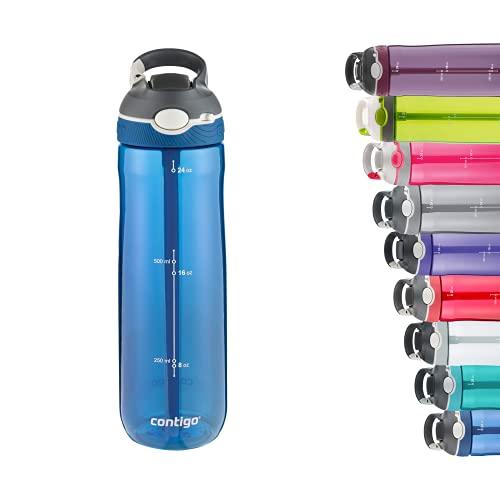 Contigo Unisex Erwachsene Trinkflasche Ashland Autospout mit Strohhalm große BPA-freie Kunststoff...