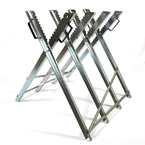 Estexo Home & Garden Sägebock klappbar Brennholz Sägehilfe Motorsäge Holz-Schneidebock Metall 4-fach