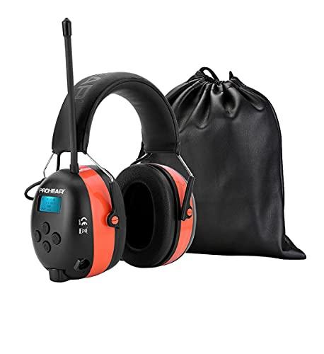 PROHEAR 033A DAB Gehörschutz mit Bluetooth 5.0/ FM Radio, Wiederaufbare Radio Ohrenshützer, Eingebautem...