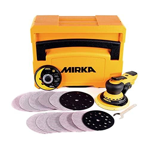 MIRKA DEROS 5650CV / Exzenter-Schleifer Schleifmaschine mit Zentral-Absaugung, 2 Schleifteller und Klett im...