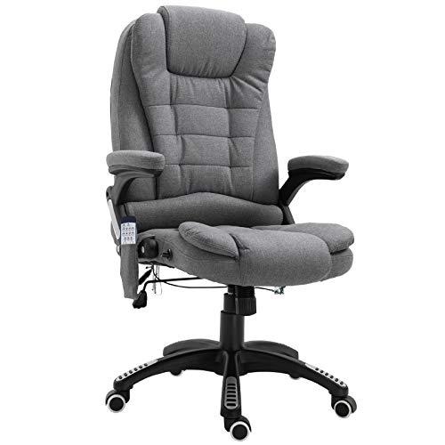 Vinsetto Massage Sessel, Bürostuhl mit Massagefunktion, Gaming Stuhl, höhenverstellbarer Chefsessel,...