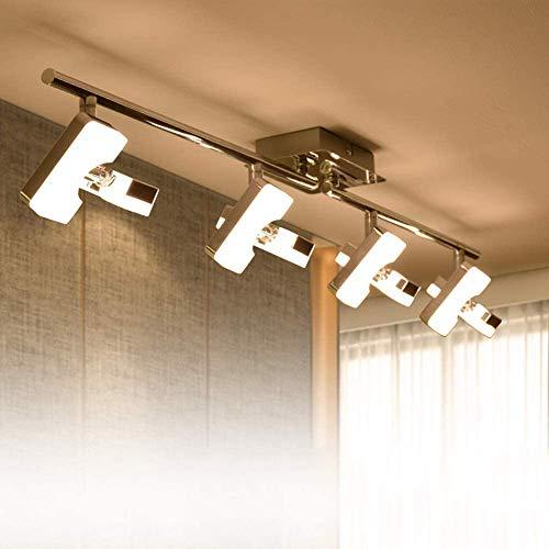 PADMA Led Deckenlampe Küche Modern Deckenleuchte Wohnzimmer Warmweiß 4 x 5W schwenkbar 3000K 1600 Lumen für...