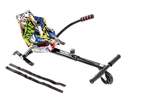 UrbanGlide Pilot Hoverkart-Set zur Montage auf Hoverboard, Kinder, 3700092656860, Mehrfarbig