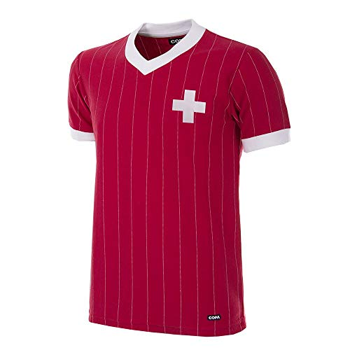 Copa Schweiz Retro Trikot 1982 rot rot, L