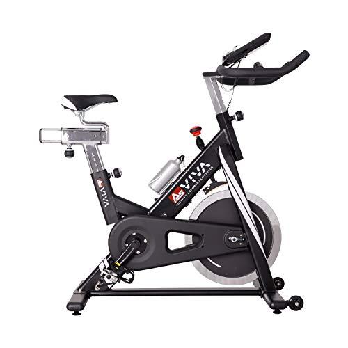 AsVIVA Indoor Cycle Speedbike S14 Bluetooth | inkl. SPD Klickpedale & Brustgurt (Pulsgurt) | 23kg Schwungmasse...