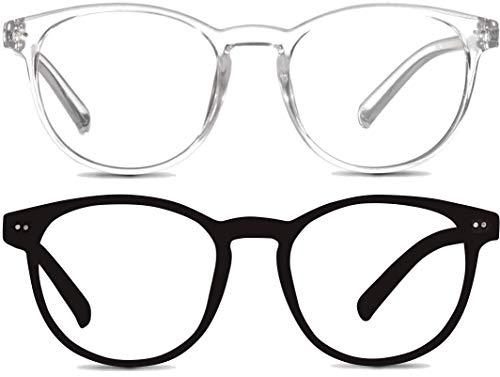 Riccardo Materossi 2er-Set Blaulichtfilter Brille - Lesen PC-Spiele Bildschirm - Schlaffördernd - Schont die...