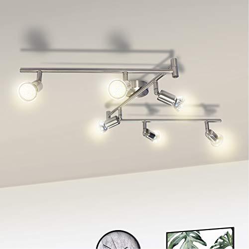 Wowatt LED 6 flammig Deckenleuchte Deckenstrahler LED Spotbalken Deckenlampe Kche Schwenkbar Wohnzimmer Flur...