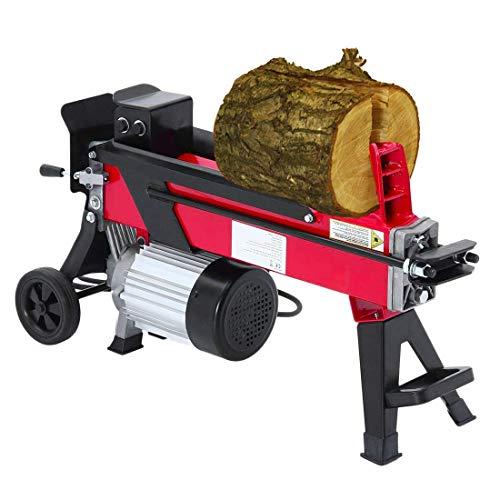 Hydraulikspalter Holzspalter bis 52cm | 7 Tonnen Spaltkraft 7t | Brennholzspalter 230 V 2200 W | Holzspalter...