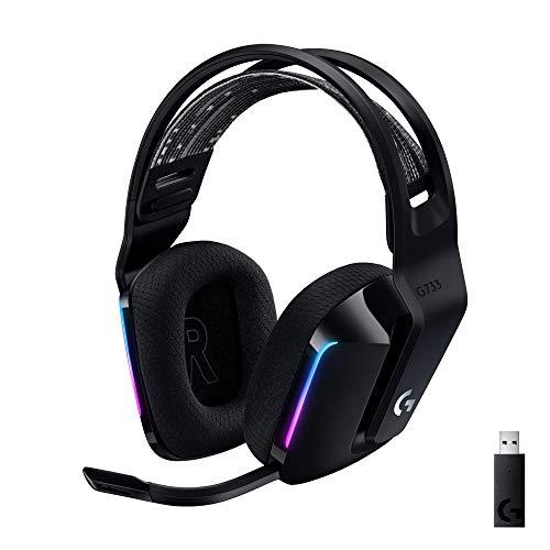 Logitech G733 LIGHTSPEED kabelloses Gaming-Headset mit Kopfbügel, LIGHTSYNC RGB, Blue VO!CE...