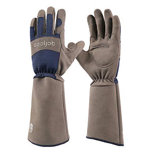 COOLJOB Rose Pruning Dornen resistent Gartenhandschuhe,lange Ärmel durchschlagfeste Handschuhe mit...