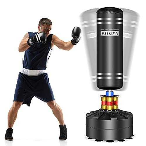 Kitopa Freistehender Boxsack, schwerer Boxsack-Ständer mit Saugnapf-Basis, für Erwachsene, Jugendliche,...
