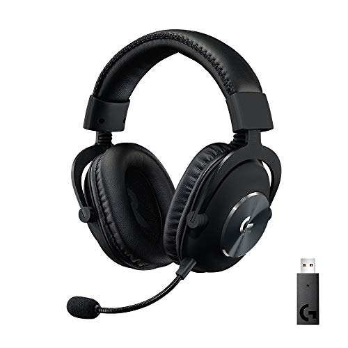 Logitech G PRO X kabelloses, PC-kompatibles Gaming-Headset mit Blue VO!CE Mikrofontechnologie, 50 mm PRO-G...