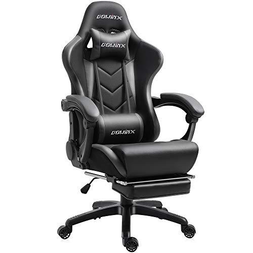 Dowinx Gaming Stuhl Ergonomischer Büro Lehnstuhl für PC mit Massage Lordosenstütze, Racing Stil Sessel...