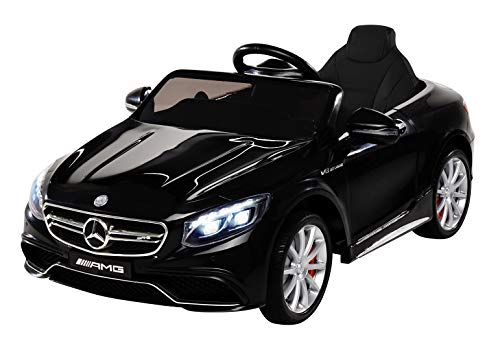 Kinder Elektroauto Mercedes Amg S63 - Lizenziert - 2 x 45 Watt Motor – Ledersitz - Sd-Karte – Usb - Mp3,-...