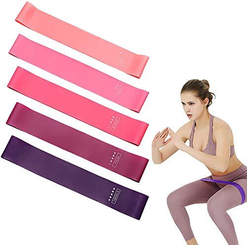 Fitnessbänder Set inkl. Türanker und Tasche - 100 Fitnessbänder in verschiedenen Stärken für Yoga,...