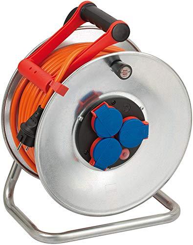 Brennenstuhl Garant S IP44 Kabeltrommel (40m Kabel in orange, Kabeltrommel Outdoor mit Trommelkörper aus...