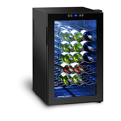 Royal Catering Weinkühlschrank Getränkekühlschrank RCWI-70L (130 W, 6 Einlagen, 70L, 11-18 °C,...