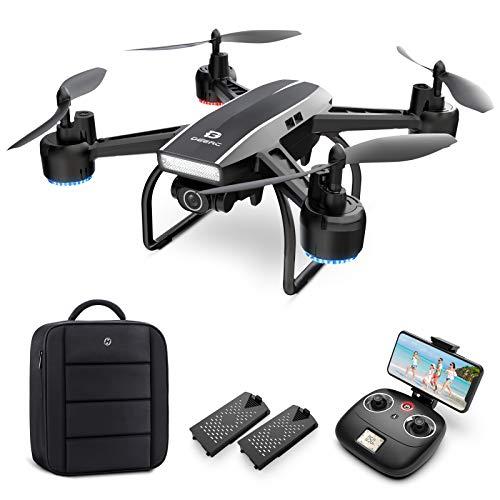 DEERC Drohne mit Kamera 1080P FHD Live Übertragung 120° Weitwinkel,RC Quadrocopter mit 2 Batterien Lange...