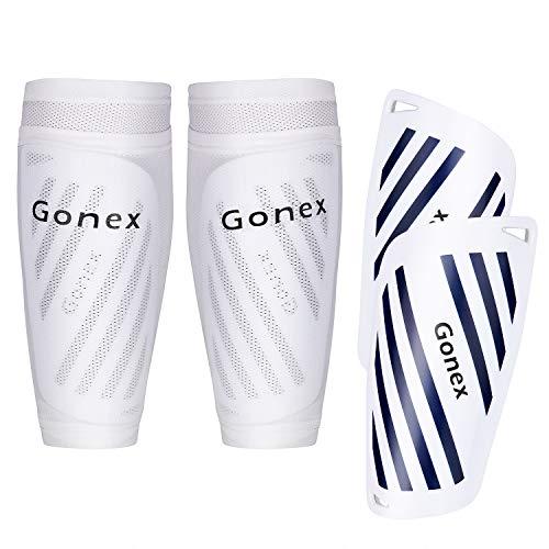 Gonex Schienbeinschoner Fußball für Erwachsene Jugend Kinder Fussball Socken Shin Guard Herren Jungen...