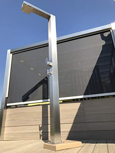 Model A1 Solardusche Gartendusche Pooldusche Außenendusche gebürsteter Edelstahl 20l inox