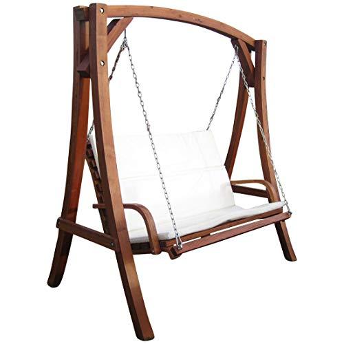ASS Design Hollywoodschaukel Gartenschaukel Schaukel Holzschaukel Hollywood Swing aus Holz Lärche Modell...