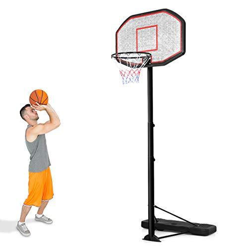 COSTWAY Basketballständer von 200 bis 305cm höhenverstellbar, Basketballkorb mit Ständer, Basketballanlage...