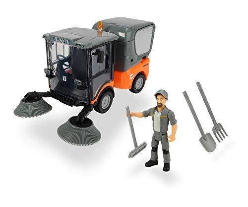 Dickie Toys Playlife-Straßenkehrer Set, Kehrmaschine Kärcher MC 130, drehende Kehrbesen, zu öffnende...
