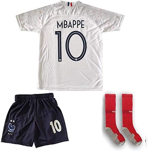 ATB Frankreich 2019/2020#10 Mbappe Auswärts Kinder Fußball Trikot und Shorts mit Socken Kinder und Jugend...