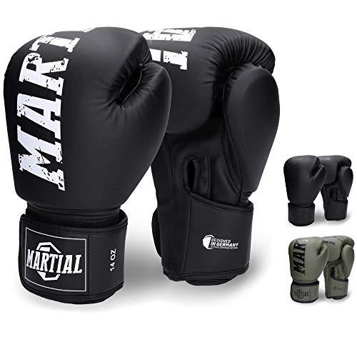Martial Boxhandschuhe - NEUES Modell - aus bestem Material für Lange Haltbarkeit! Kickboxhandschuhe für...