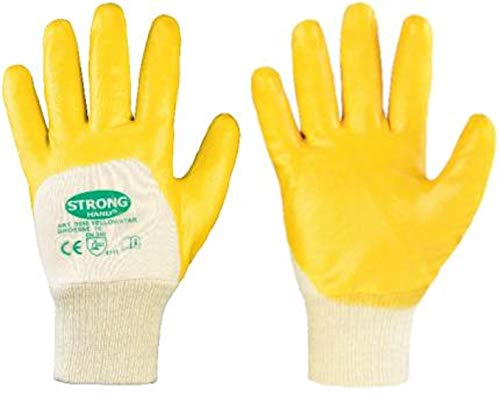 144 Paar Stronghand Nitrilhandschuhe Arbeitshandschuhe Gelb 0550 Yellowstar Gr. 10