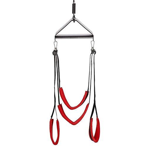 SXOVO Sex Swing Mit Stahl Dreieck Rahmen Fetisch Sex-Schaukel Erwachsene Spielzeug (Rote)