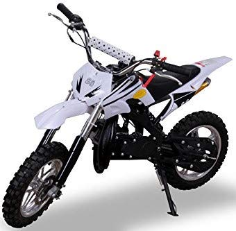 Kinder Mini Crossbike Delta 49 cc 2-takt Dirt Bike Dirtbike Pocket Cross (Wei)