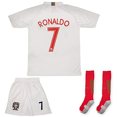 ATB Portugal Ronaldo Heim/Auswärts 18/19 Kinder Trikot Hose mit Socken (152, Auswärts)