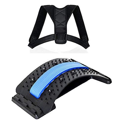 goFun Rückenstreckungsgerät und * Rückengurt als Geschenk *.Rückendehner mit Akupunktur-Massage-Punkten,...