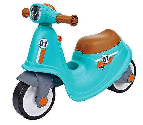 BIG - Classic Sport Scooter Kinder-Laufrad in türkis, echte Rollersounds, robust, hohe Kippsicherheit und...