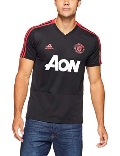 adidas Herren Manchester United FC Training Kurzarm Sweatshirt, Black/Blaze Red/Core Pink, L