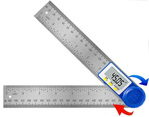 Digitaler Winkelmesser, Orthland Winkelmesser mit LCD Anzeige und Feststellfunktion, Elektronischer schmiege...