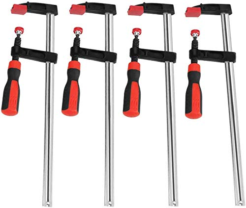 Schraubzwinge Set, F Klemmzwinge Temperguss Spannweite Holzbearbeitung F Clamps Bar Clamp Stahlmaterial DIY...