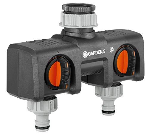 Gardena 2-Wege-Verteiler: Anschlussmöglichkeit für 2 Geräte an den Wasserhahn, passend zu Gardena...