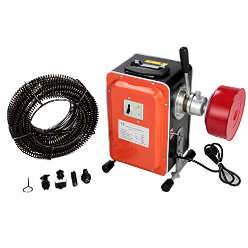 Anbull elektrische Rohrreinigungsmaschine, 750W / 230V Rohrreiniger, IP44 wasserdicht,geeignet für Ø20-150...