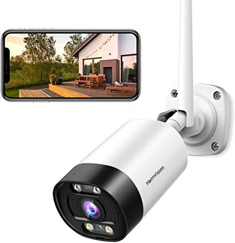 HeimVision HD 3MP WLAN IP Kamera Überwachungskamera aussen PIR-Bewegungserkennung Wasserdicht mit Nachtsicht...
