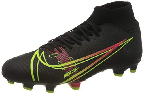 Nike Herren Mercurial Superfly 8 Academy MG Soccer Shoe, Black/Cyber-Off Noir-Rage Green-Siren Red, 44.5 EU