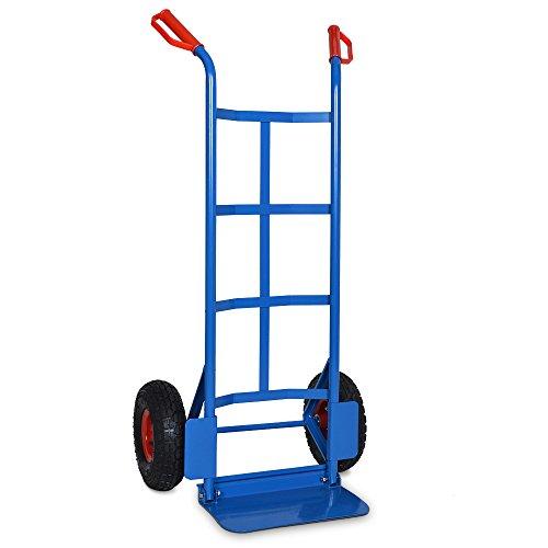Deuba Sackkarre klappbar bis 200kg Luftreifen Haltegriffe Karre Transportkarre Stapelkarre Transportwagen